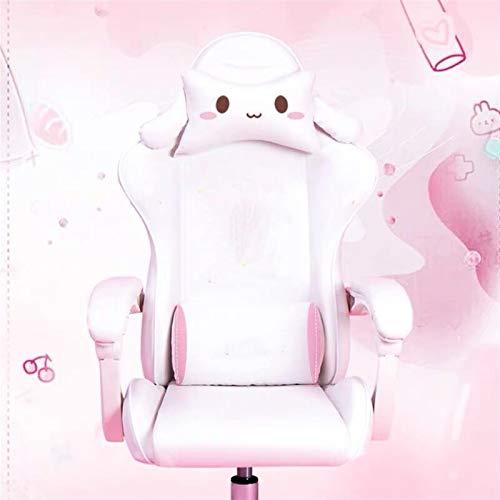 Silla de Oficina ergonómica, Lindas sillas de Dibujos Animados Dormitorio Confortable Oficina Oficina Oficina casa Chicas Chicas Silla Giratorio Silla Ajustable para el hogar y la Oficina