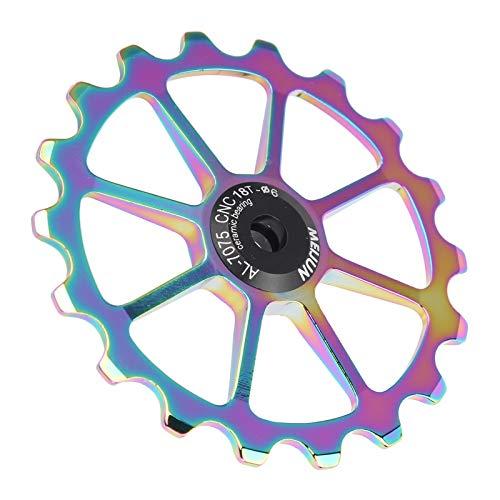 Meiyya Accesorio para Ciclismo, Mano de Obra Fina, Ligero, fácil de Instalar, Rodillo guía Trasero para Bicicletas de montaña(Bright Color)