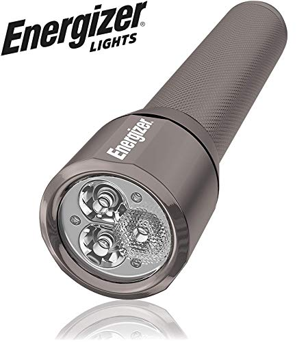 Energizer VISION-1500 LED Flashlight, 1500 High Lumens, IPX4 Water Resistant, Aircraft Grade Metal Tactical Flashlight, Digital Beam Focus, 6 AA Batteries Included