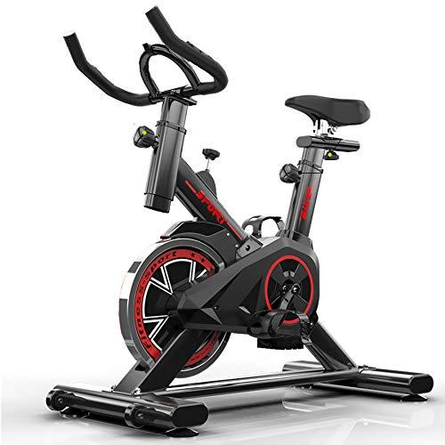 QQLK Bicicleta EstáTica Indoor - Bicicleta De Spinning - Ejercicio Bicicleta con Pantalla Led, Ajuste De Resistencia, Soporte De Carga 120 Kg