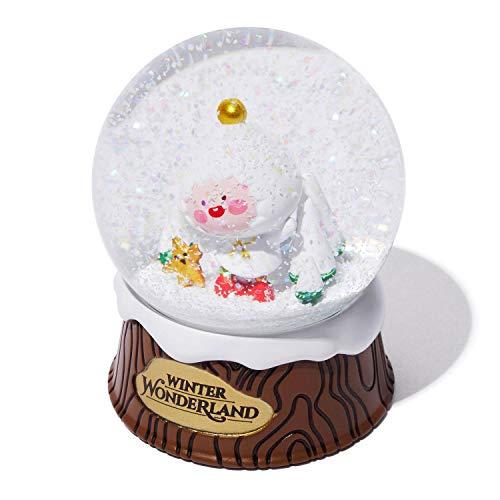 Kakao Friends – Winter Wonderland Mini-Schneekugel für Weihnachten, Weihnachtsmann, Winter, saisonales Geschenk (Apeach)