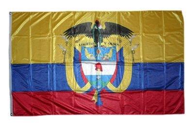 FahnenMax drapeau de la colombie avec armoiries 90 x 150 cm