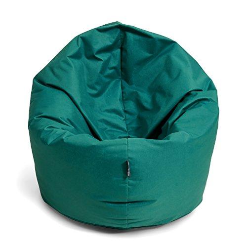 BuBiBag Sitzsack 2 in 1 Funktion Sitzkissen mit EPS Styroporfüllung 32 Farben Bodenkissen Kissen Sessel Sofa (125cm, Petrol)