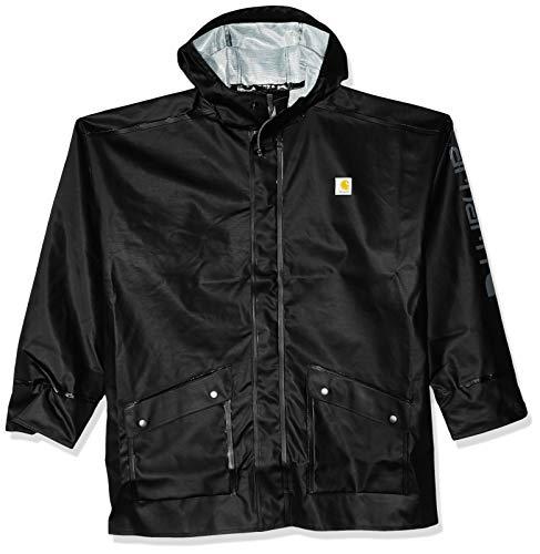 Carhartt Men's Big and Tall Waterproof Loose Fit Heavyweight Coat, Black, 4X-Large
