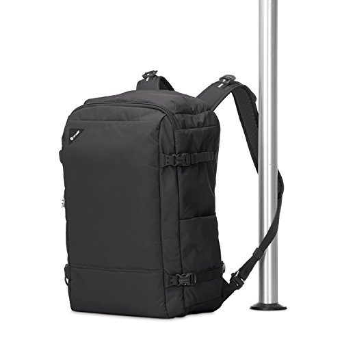 Pacsafe Vibe 40 Liter Anti Theft Carry-On Backpack/Travel Bag - Fits 15 inch Laptop, Black