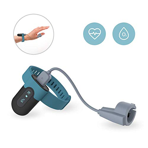 Wellue Wearable Oxygen Saturation Monitor Built-in Notification, Check Trends of O2 and Heart Rate on Free APP and PC Report