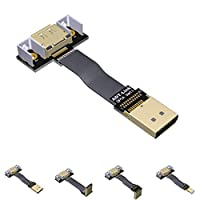 DisplayPort Ribbon Extension Cable Male-Female Flat EMI shielding FPC Cable DP 90 degree Angle Connector With mounting bracket (0.3m,P1-P4T)