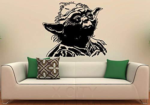 wandaufkleber 3d Wandtattoo Kinderzimmer Yoda Aufkleber Star Wars Movie Poster Kindergarten Kinder Schlafzimmer Wandtattoo Kunst Selbstklebende Pvc Vinyl Home Interior Decor Wandbilder