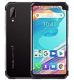 Blackview BV6100 (2019) Móvil Libre Resistente, Pantalla Grande de 6.88 Pulgadas (Dual Gorilla) Smartphone 3GB + 16GB, Android 9.0, IP68 / IP69K Impermeable/Antigolpes, Batería de 5580 mAh, NFC Plata