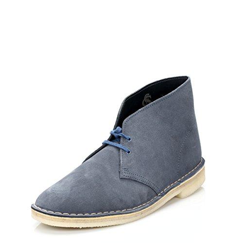 Clarks Originals Desert Boot, Herren Kalt gefüttert Desert Boots Kurzschaft Stiefel & Stiefeletten, Blau (Denim), 42.5 EU 8.5 UK