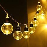 Luz LED, LED Solar Alimentado Cadena de Luz de la Bombilla de la Cadena de la Lámpara de Cuentas de la Boda de Hadas Decoración, LED de la Luz de Vent