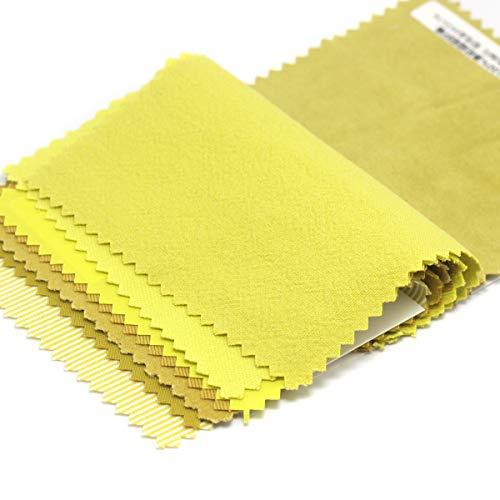 IQQI 8 Piezas Amarillo Serie De Algodón Cuadrados Arte De La Tela Patchwork Lint Diferentes Diseños 9cmx9cm para El Bricolaje De Costura Que Acolcha Álbum De Recortes