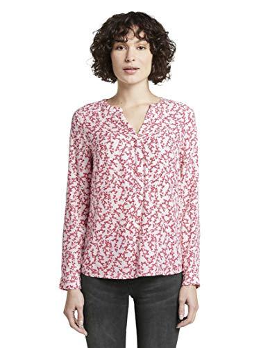 TOM TAILOR Damen Blusen, Shirts & Hemden Bluse mit Blumenmuster pink Flowery Design,36