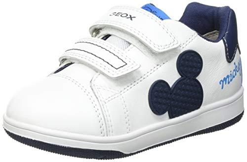 Geox Baby-Jungen B New Flick Boy A Sneaker, White/Navy, 25 EU