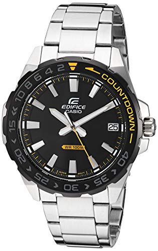 Casio Men's Edifice Quartz Stainless-Steel Strap, Silver, 21 Casual Watch (Model: EFV-120DB-1AVCR)