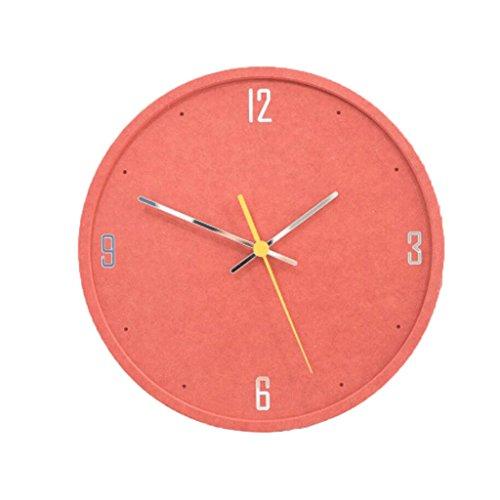 LINGZHIGAN Creative Decorative Wall Clock Cartoon Colorful Clock Retro Chambre Salle d'étude Salon Kid 30cm ( Couleur : F )