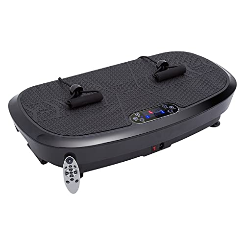 FITTIME Vibrationsplatte Professionelle 3D (2021),200W+200W Fitness Profi Vibrationsgerät Trainingsgerät Bluetooth Lautsprecher|Extra Große Anti-Rutsch-Oberfläche |0-180 Stufen|0-12 mm Amplitude|150KG