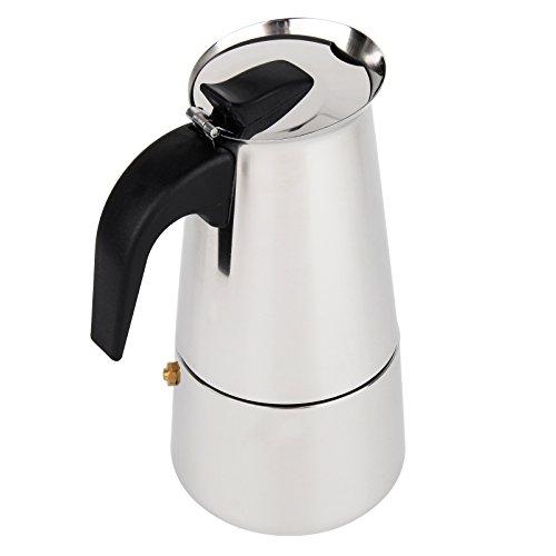 Baytter Premium Moka Espressokocher aus Edelstahl 6 Tassen Espressomaschine Espressokanne für Gas- oder Elektroherdplatten Cappuccino Latte Espresso Kocher