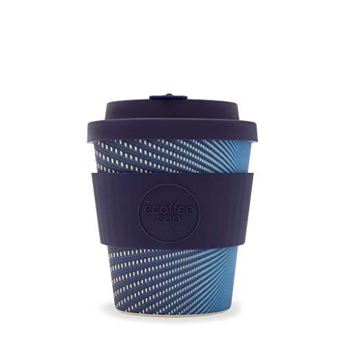 Ecoffee 250 ml wiederverwendbare Becher mit Silikondeckel, hergestellt aus natürlicher Bambusfaser (Kubrick)