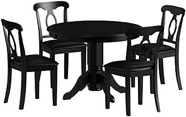 Angel Line Lindsey Dining Set, Black