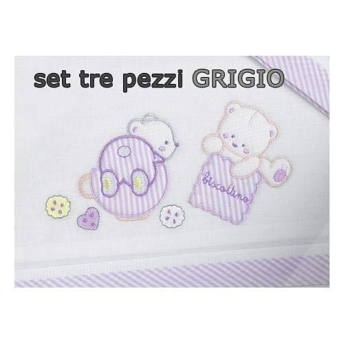 Gerrybaby Lenz.3pz Culla Biscotto Grigio Ge4425110