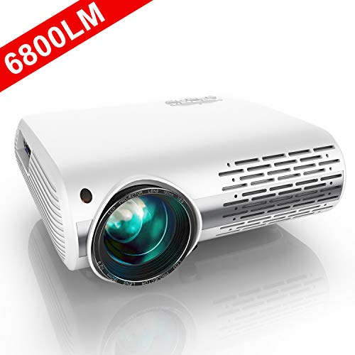 YABER Native 1080P Projector 6800 Lux Upgrade Full HD Video Projector 1920 x 1080, ±50° 4D Keystone Correction Support 4k & Zoom,LCD LED Home...