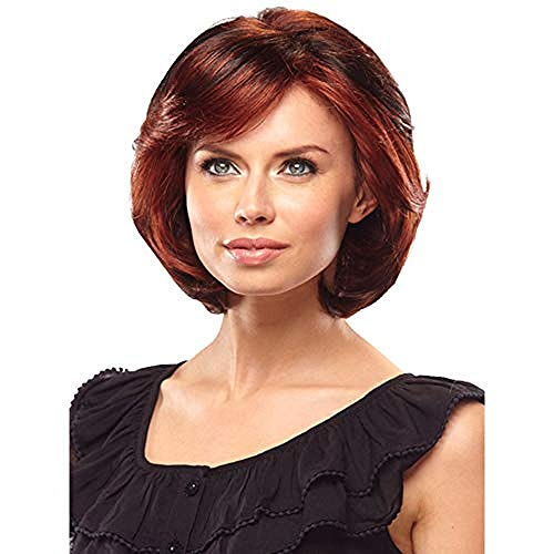 Perruque synthétique pour femmes Brun courte perruque de cheveux bouclés Bob Perruque Daily Cosplay Robe de soirée Perruque Brun