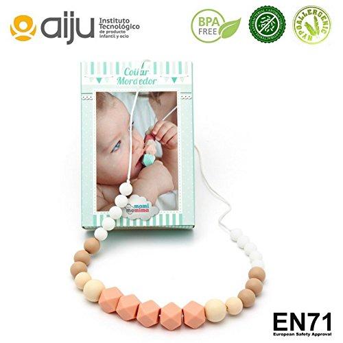 Collar de Lactancia Mordedor de Silicona Antibacteriana Para Dentición Modelo Agatha