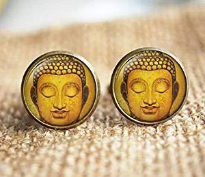 Estatua de Buda Gemelos Gemelos, Buda Estatua Joyería, Estilo Antiguo