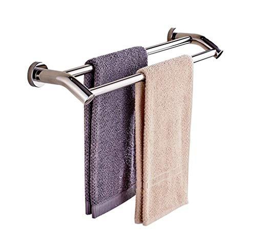 LIYONG Handtuchschienen Edelstahl Wandmontierte Doppelhandtuch Bar Badezimmer Dusche Rack Rack Küche Aufbewahrungsständer RAG TOWE HLSJ (Size : 40cm)
