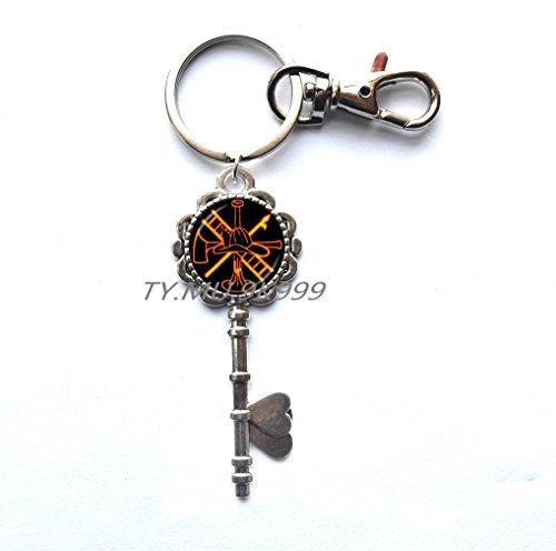 Rescue Firefighter Key Keychain Fire Fighter Key Key Ring Fireman Jewelry Fire Department Key Key Ring Key Keychain Glass Cabochon Jewery.Y070 (2)