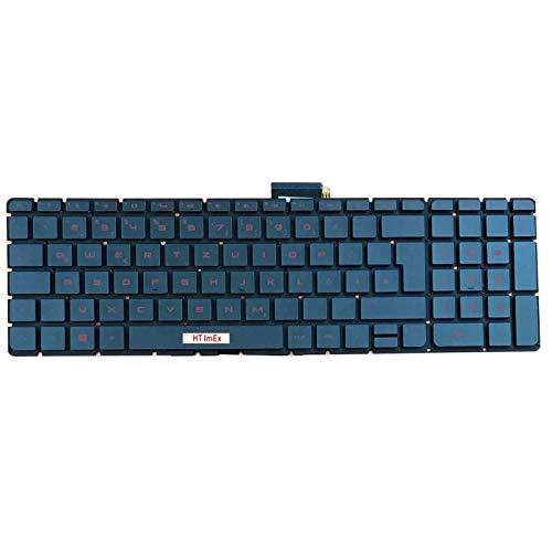 Tastatur - Farbe: Schwarz - ohne Rahmen - mit Hintergrundbeleuchtung Deutsches Tastaturlayout kompatibel für HP Pavilion 15-BW 15-CC 15-AH 15-AU 15-AE 15-CB 15-AB 15-BC 15-AS 15Q-BD 15-BS