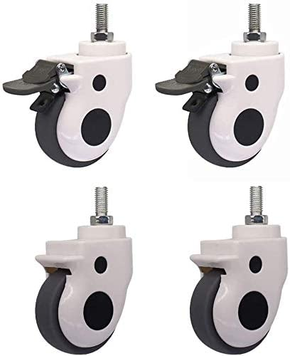 Casters Rubber 3 Inches Chair Large special price with Qu X4 75Mm Kansas City Mall Abrasive and Brake