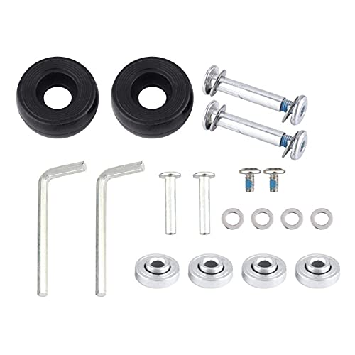 Ventiladores domésticos 2 uds, Maleta de goma para equipaje, ruedas, reparación de ejes de repuesto, OD 40/45/50 / 70mm