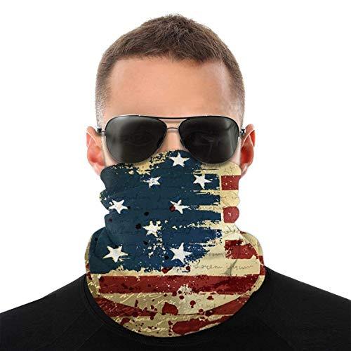 Bandeau, drapeau américain pendant des années Écharpe Bandana sans couture élastique, série de chapeaux de sport de résistance aux UV pour le yoga randonnée équitation moto
