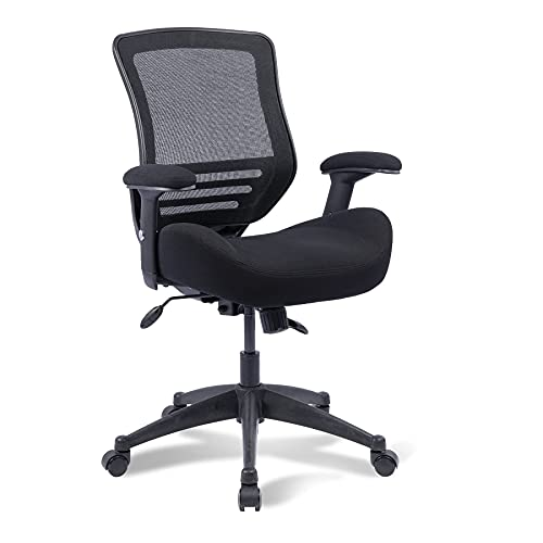 Boliss Ergonomic Office Desk Chair Height Adjusting Arm Waist Support Function,400 lbs Capacity - Black
