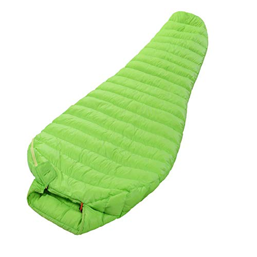 hhxiao Sac de Couchage 200-86cm Outdoor Camping Sleeping Bag Ultralight White Goose Down Sleeping Bags Season Fan Shape with Sack Lengthened Bag