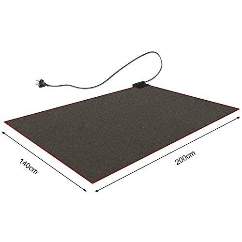 CRAVOG verwarmd tapijt 140 x 200 cm tapijtverwarming verwarmbare tapijtonderlegger vloerverwarming zwart