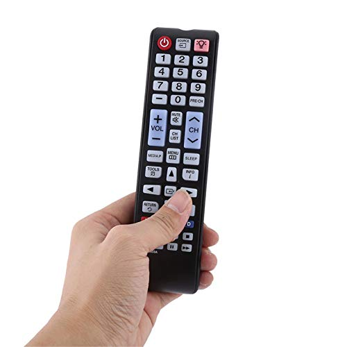 Universal-Fernbedienung, Smart-TV-Fernbedienung, geringer Stromverbrauch, Lange Übertragungsdistanz, ABS 3D-Fernbedienung Ersatz für Samsung Smart LCD-LED-Fernseher