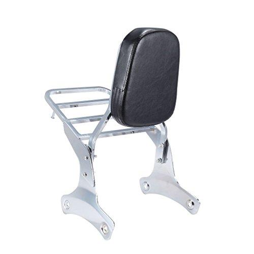 Chrome Backrest Sissy Bar With Luggage Rack Backrest Pad For Shadow ACE VT400 1992-1998 VT750 1998-2003