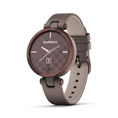 Garmin Lily, Small GPS Smartwatch with Touchscreen and Patterned Lens, Dark Bronze