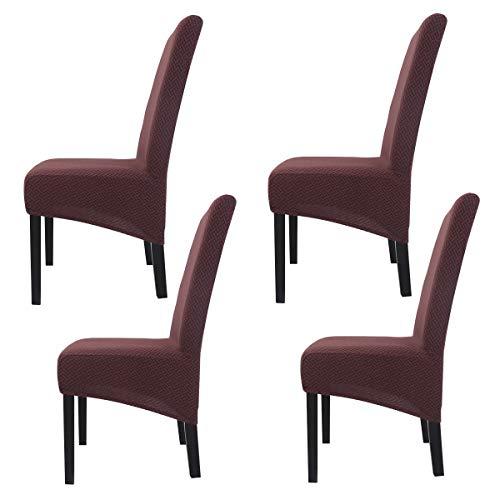 Mingfuxin - Fundas de silla de gran tamaño, elásticas para sillas de comedor, fundas elásticas extraíbles y lavables para sillas de comedor, hotel, dirección de banquetes