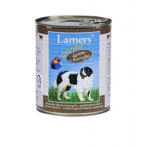 Lamers Sensibel Lamm & Kartoffel 800g Hundedosenfutter, 6-er Pack