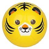 BORPEIN Pelota de fútbol de 15,2 cm, diseño de animales, suave y rebozable, tamaño perfecto para niños jugando desde Reino Unido (tigre)