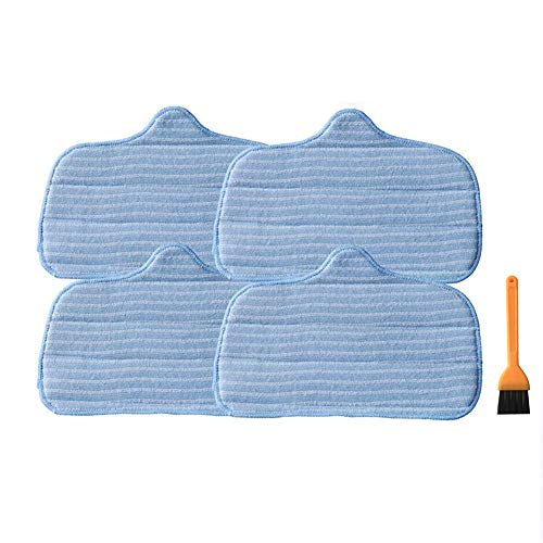 EZ SPARES Replacement for McCulloch MC1275 Mop Pad,SteamMax SF275 and SF370 Steam Microfiber Mops,Compare to Part No. A275-020 Vacuum Cleaner Accessories(4 Pcs)