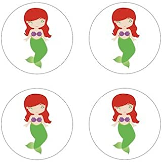 Ariel Little Mermaid - Princess Inspired Edible Cupcake Toppers Decoration