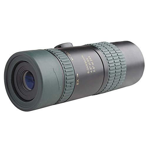 MISS KANG Telescopio Prismáticos Astronomía 8-24X30 Zoom Continuo HD Teléfono Móvil Monocular Qingchunw