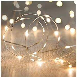 XINKAITE Led String Lights Waterproof 32.8ft led Fairy Lights Battery Operated for Wedding, Home, Garden, Party, Christmas Decoration, Warm White