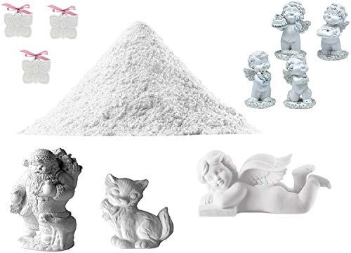 KIRALOVE Gesso Sintetico atossico - extraduro - Alta Definizione - resistentissimo - Effetto Porcellana - colabile - 2kg