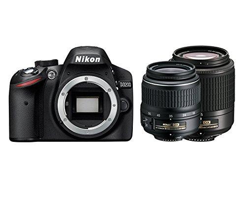 Nikon D3200 Spiegelreflexkamera, AF-S DX 18-55 II + 55-200